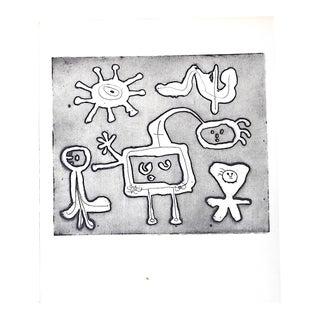 Vintage Abstract Joan Miro Lithograph