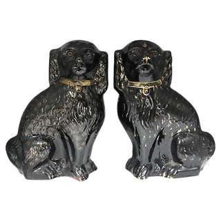 Oversize Staffordshire Mantel Dogs - Pair