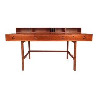Beautiful Mid-Century Modern Teak Flip-Top Desk by Jens Quistgaard
