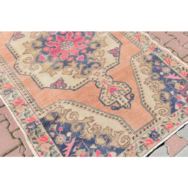 Muted Handwoven Nomadic Vintage Anatolian Oriental Rug - 4′4″ × 7′3″ - Image 4 of 6