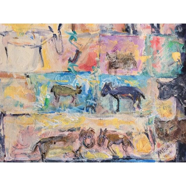 "Image of Rosalyn Mesquita ""Animals"" Mixed Media Painting"