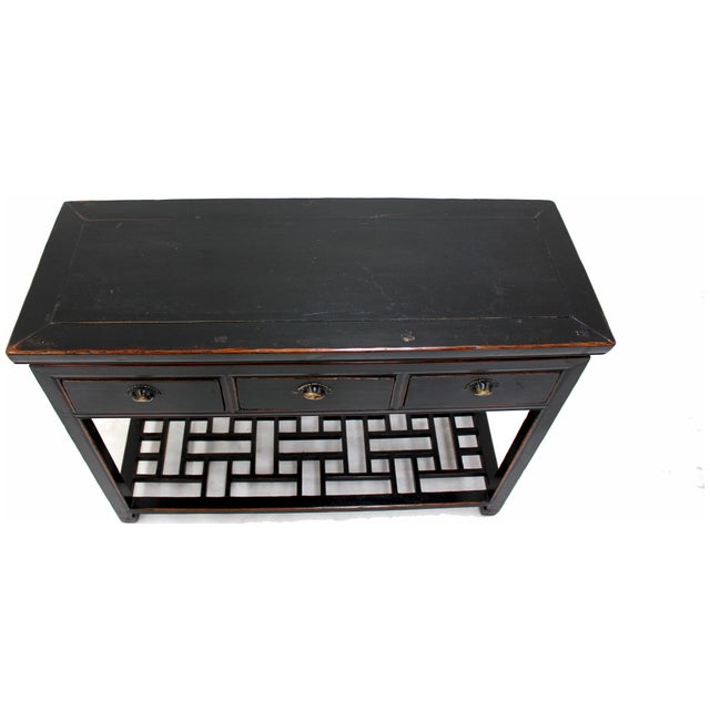 Image of Antique Sarreid LTD Ming Style Wood Console Table