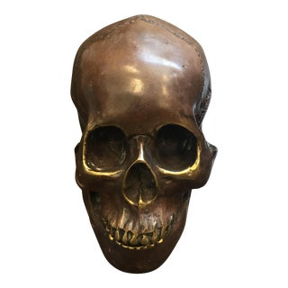 Bronze Brass Skull Head Sculpture