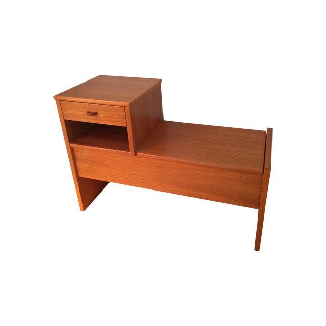 Mid-Century Danish Teak Storage Bench - Image 1 of 4