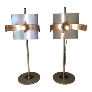 Vintage Modern Table Lamps - A Pair