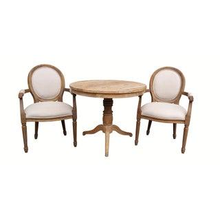 Louis XIV Style Pine Bistro Set