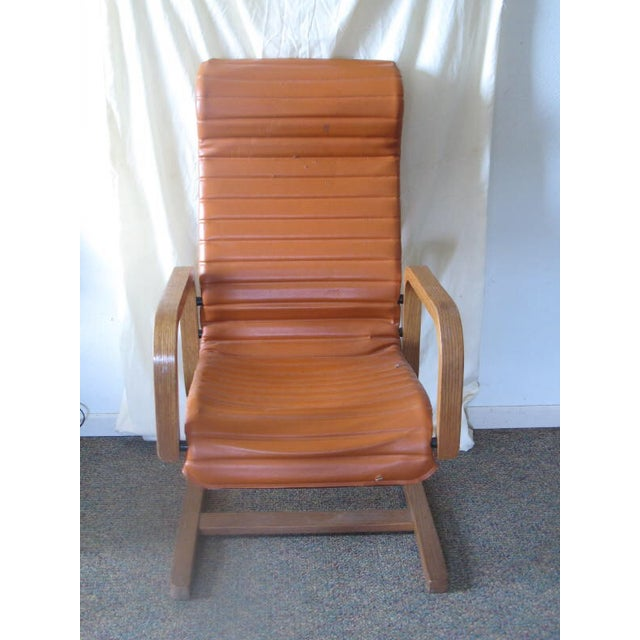 Thonet Oak Laminated High Back Lounge Chair - Image 4 of 11