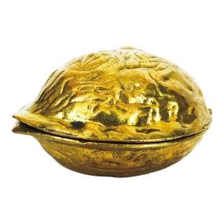 Vintage Brass Walnut Nutcracker