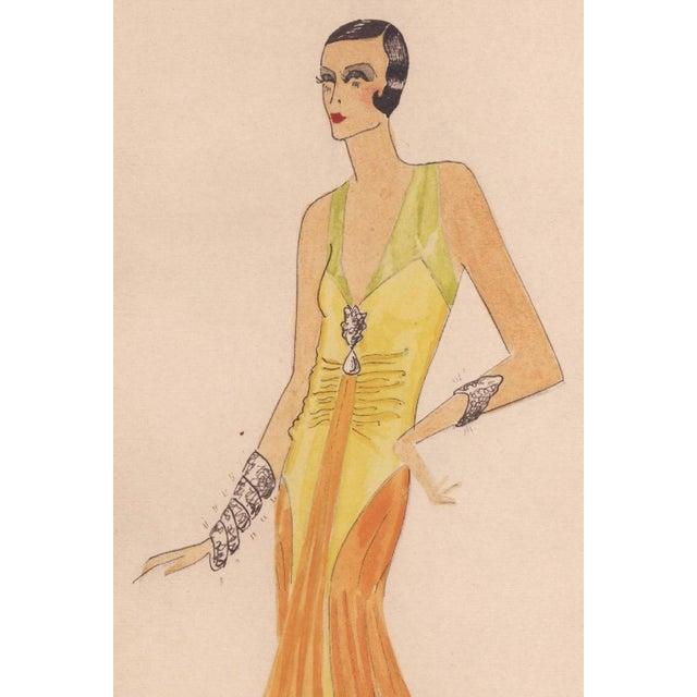 Image of Original Art Deco Fashion Drawing