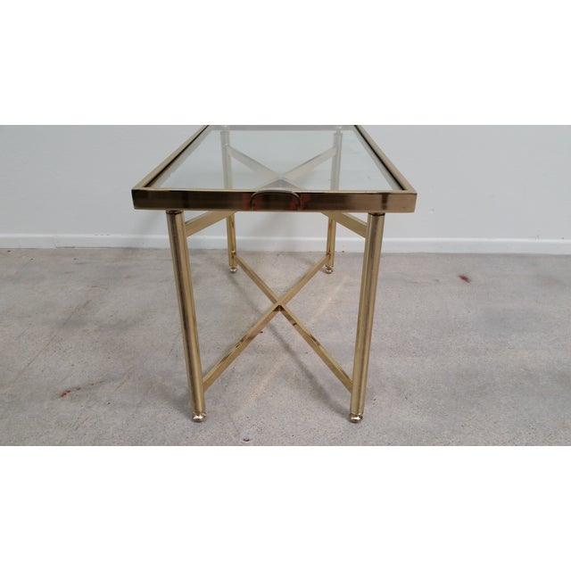 Image of Gold Hollywood Regency Style Tray Table
