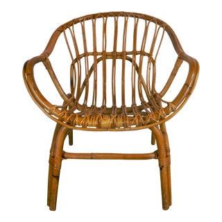 Franco Albini Style Rattan Armchair