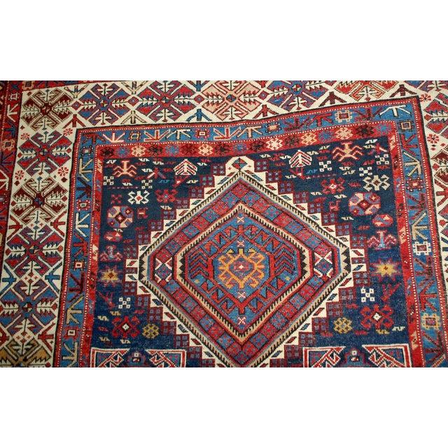 Antique Caucasian Shirvan Rug- 4′9″ × 7′10″ - Image 8 of 10
