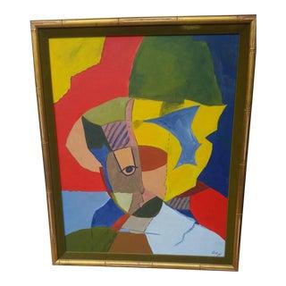 1969 Ralph Gagnon Style Original Abstract Acrylic Painting