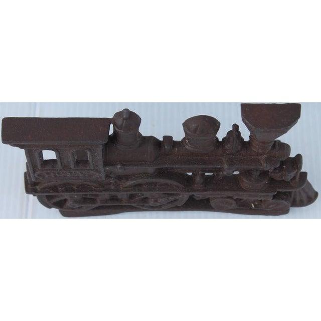 19th Century Original Old Surface Iron Train Door Stop - Image 8 of 8