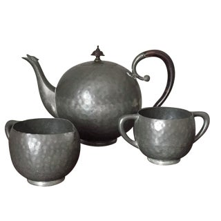 Deco Pewter & Bakelite Tea Set