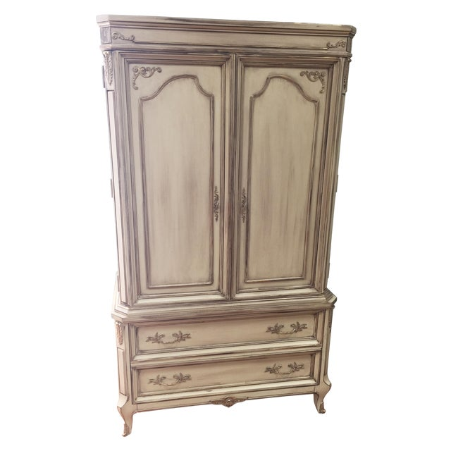 Vintage French Provincial Armoire - Image 1 of 11