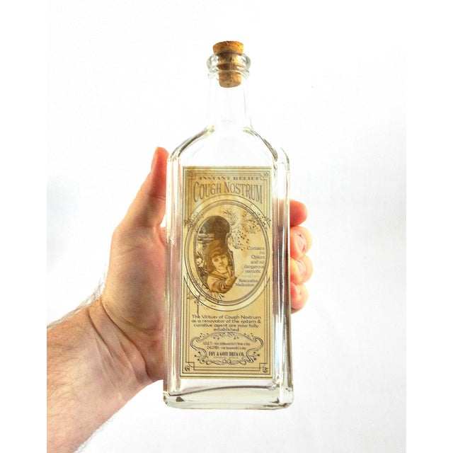 Vintage Style Cough Nostrum Remedy Bottle - Image 4 of 5