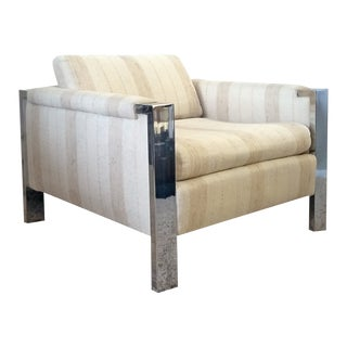 Mid-Century Modern Polished Chrome Lounge Chair