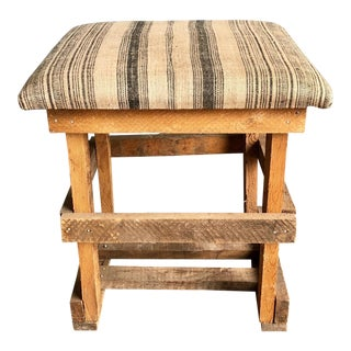 Cushion Top Crate Stool