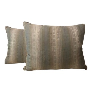 Pair of Soft Pastel Patterned Pillows by Jasper Michael Smith