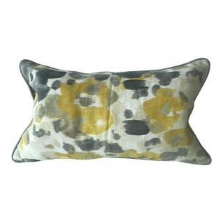 Robert Allen Fabric Lumbar Pillow (Abstract Water Color Print)