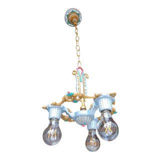 Antique 3-Light Riddle Co. Art Deco Chandelier