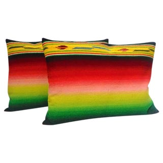 Mexican Indian Weaving, Serape Bolster Pillows