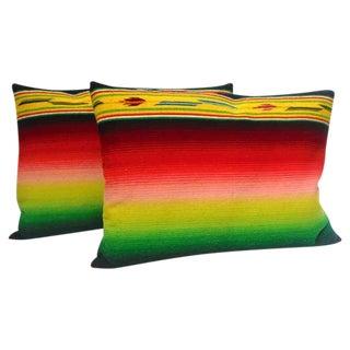 Mexican Indian Weaving, Serape Bolster Pillows