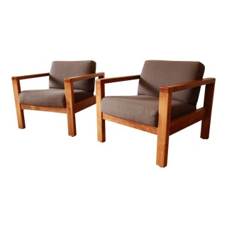 Jasper Chair Co. Modern Club Chairs - a Pair