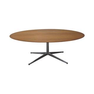 "Florence Knoll Vintage 78"" Oval Walnut Table Desk"