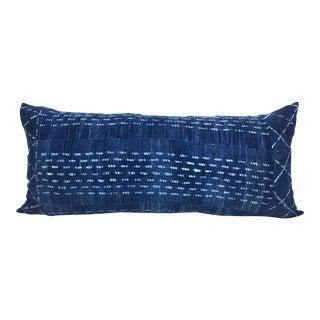 Vintage African Indigo Mudcloth Lumbar Eleanor Pillow