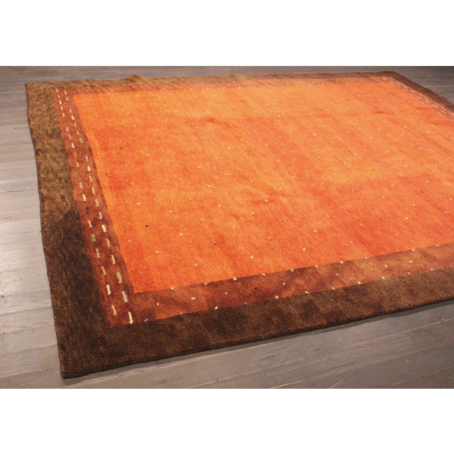 """Hand-Knotted Gabbeh Wool Rug - 7'8"""" x 9'5"""" - Image 4 of 5"""
