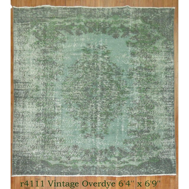 Turkish Medallion Overdye Rug - 6'4'' X 6'9'' - Image 2 of 5