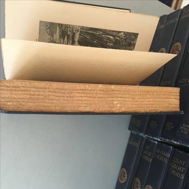 Antique Blue Instant Library Books - Set of 25 - Image 6 of 6