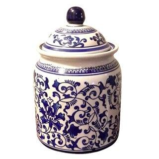 Blue & White Chinoiserie Vase Ginger Jar