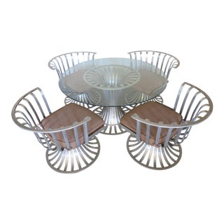 Mid-Century Modern Russell Woodard Aluminum Patio Furniture - A Set