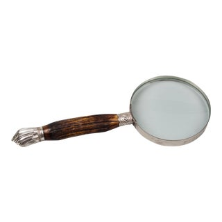 Magnifying Glass with Silver & Horn Handle