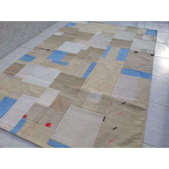 "Turkish Patchwork Overdyed Rug -- 5'1"" x 7'8"" - Image 5 of 6"