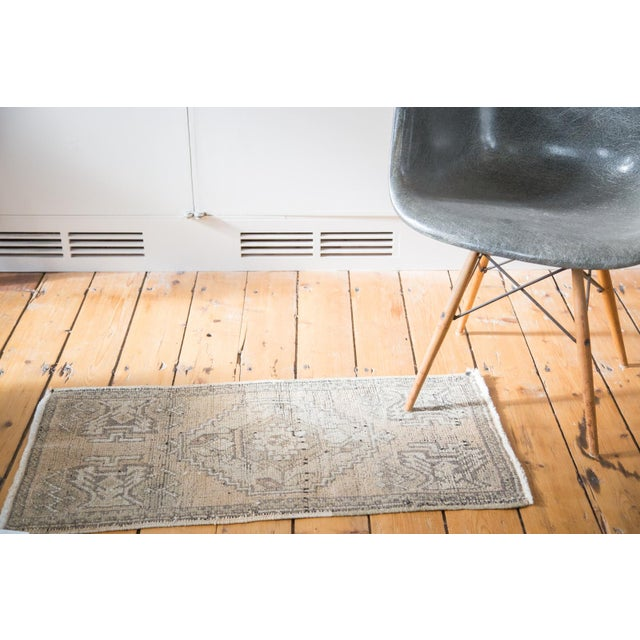 "Distressed Oushak Rug Mat - 1'8"" X 3'2"" - Image 3 of 7"
