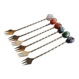 Vintage Cocktail Forks, Set of 6