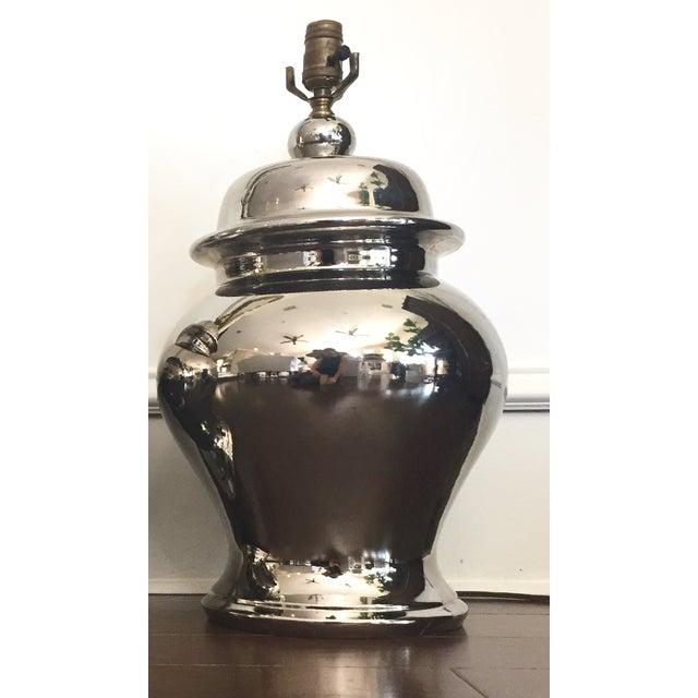 Mid Century Chrome Ginger Jar Lamp Chairish