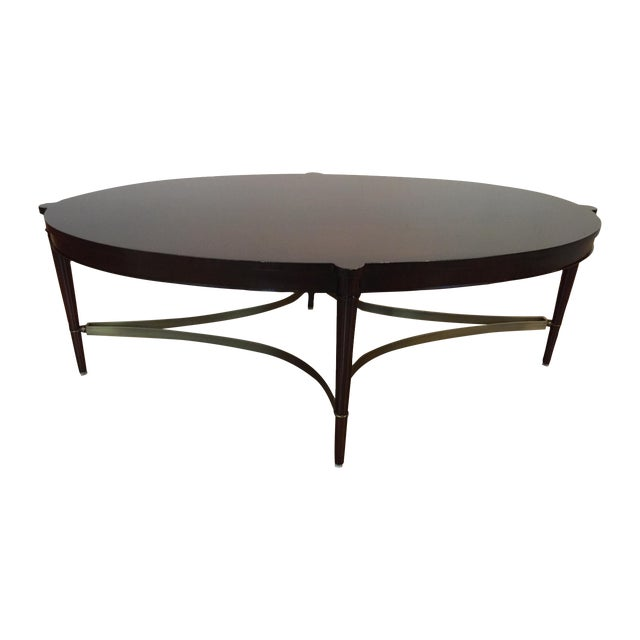 Baker olivia coffee table thomas pheasant line chairish Baker coffee table