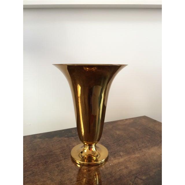 Vintage Dutch Brass Trumpet Vase Chairish