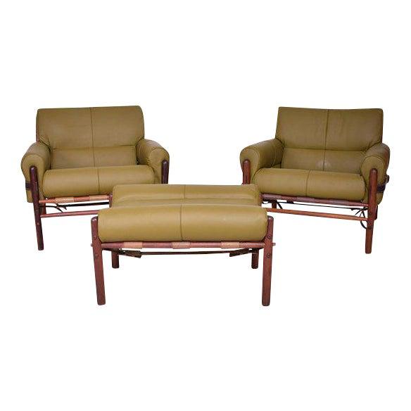 """Arne Norrel """"KONTIKI"""" Pair of Safari Chairs - Image 1 of 11"""