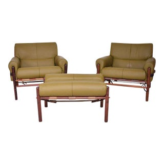 "Arne Norrel ""KONTIKI"" Pair of Safari Chairs"
