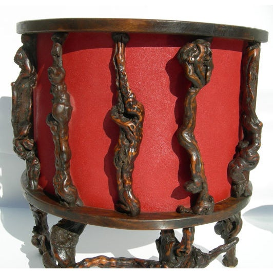 Wacky Burled Root Bar and Stools - Image 4 of 8