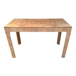 Parsons Style Burlwood Henredon Desk