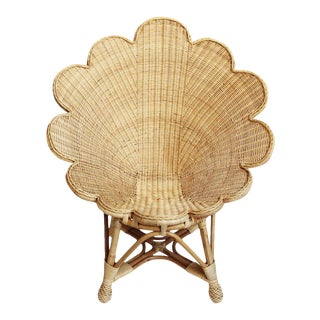 Rattan Natural Shell Chair