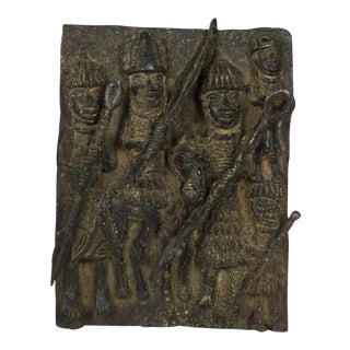 Bronze Benin Warrior Plaque