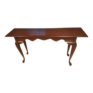 Curved Wood Console Table